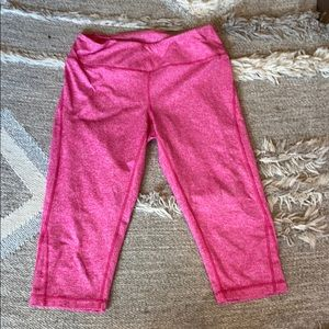 Zella Hot Pink Cropped Yoga Pants